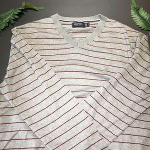 Nautica striped v-neck sweater!